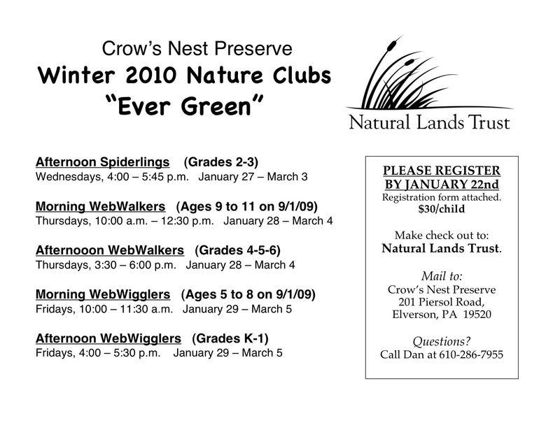 Winter 2010 flyer
