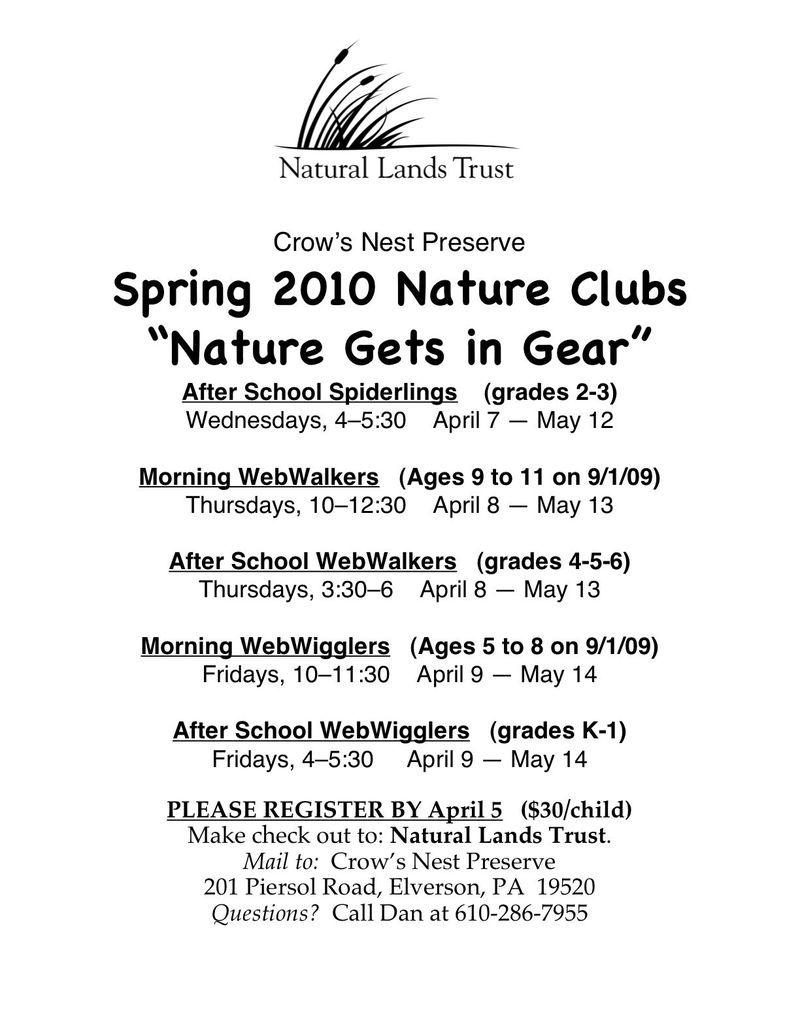 Spring 2010 flyer